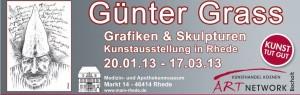 Guenter Grass Rhede Bocholt Koenen 300x95 - Schüler staunen in der Günter Grass Ausstellung