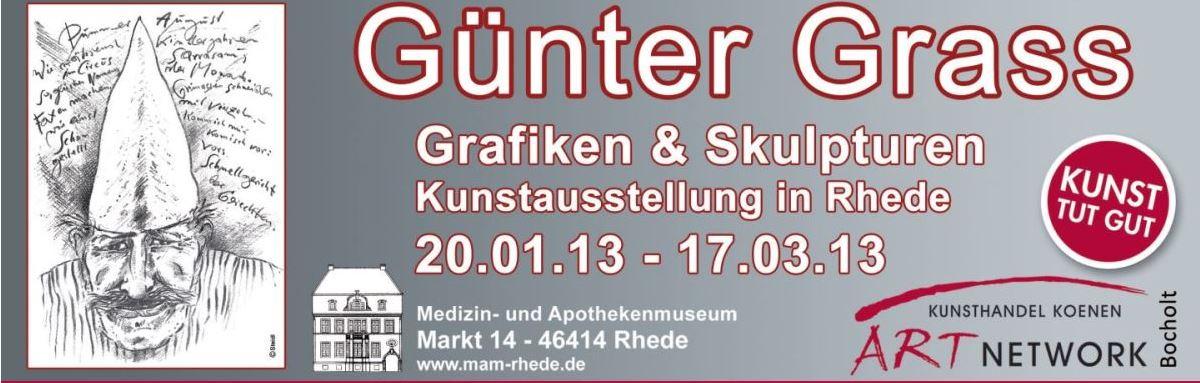 Guenter Grass Rhede Bocholt Koenen - Günter Grass - Kunstausstellung in Rhede