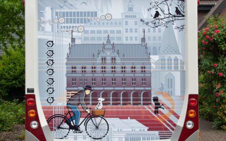 2013.06.17. Ansicht Wohnmobil Postkartenmotiv Fahrradfahrer Bocholt ART NETWORK 1134x1133 464x290 - Kunst in Bocholt - Postkarten, Wohnmobile und mehr