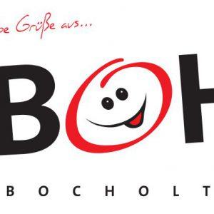 Bocholt Postkarte. Motiv 1. BOH. Vorderseite 300x300 - Kunst in Bocholt - Postkarten, Wohnmobile und mehr