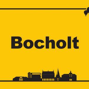 Bocholt Postkarte. Motiv 6. Ortsschild. Vorderseite 300x300 - Kunst in Bocholt - Postkarten, Wohnmobile und mehr