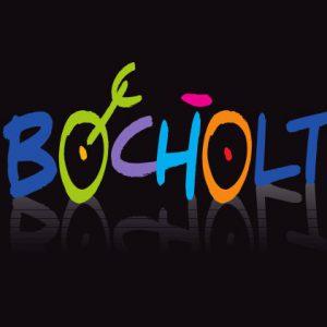 Bocholt Postkarte. Motiv 8. Bocholt Schriftzug auf schwarz. Vorderseite 300x300 - Kunst in Bocholt - Postkarten, Wohnmobile und mehr