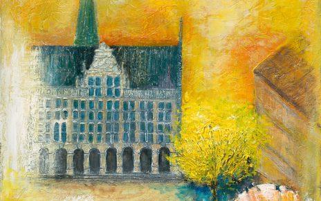 Fritz Brauwers Historisches Rathaus Bocholt Giclee Print 464x290 - Kunst – Online kaufen