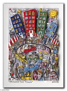 James Rizzi Around the Town. 3D Grafik 220x300 - Kunst – Online kaufen