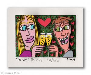 James Rizzi. To Us. 3D Grafik 300x247 - Kunst – Online kaufen