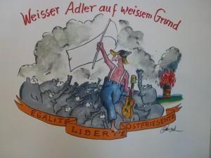 Weisser Adler auf weissem Grund 300x225 - Zeitgenössische Kunst - Otto Waalkes ... mehr als ein Komiker