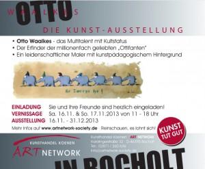 Ausstellung. Otto Waalkes. Maxikarte Rueckseite 300x247 - Otto Waalkes Die Kunst-Ausstellung - 1000mal berührt - ab 16.11.2013 in Bocholt