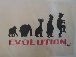 Evolution 300x225 - Otto Waalkes Die Kunst-Ausstellung - 1000mal berührt - ab 16.11.2013 in Bocholt