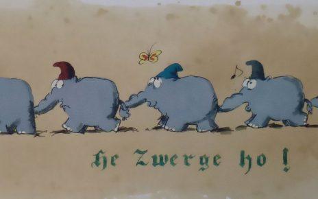 Marching Dwarfs 464x290 - Kunst in Bocholt - WDR zu Besuch bei Otto im Kunsthandel Koenen ART NETWORK