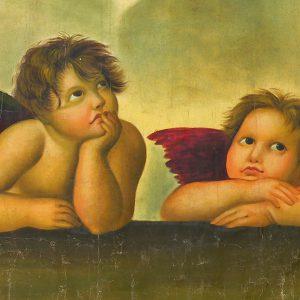 Engel beide 300x300 - Kunst im Büro - Dr. Clauders Tiernahrung