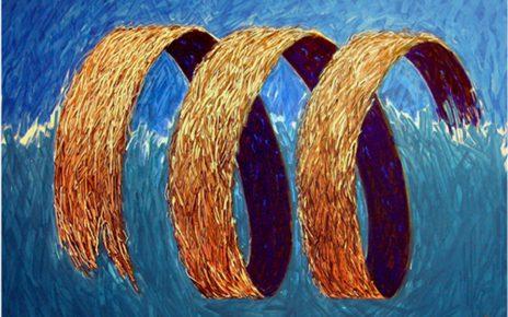 Tsunamie100x80cm1000kb1 464x290 - Nico Namara - Ausdrucksmittel und Technik des Pointillismus