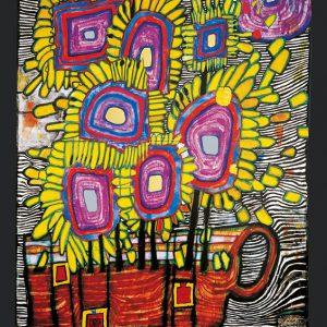 Hundertwasser HOMMAGE A VAN GOGH ml 300x300 - Kunst von Hundertwasser - Farben und Kontraste