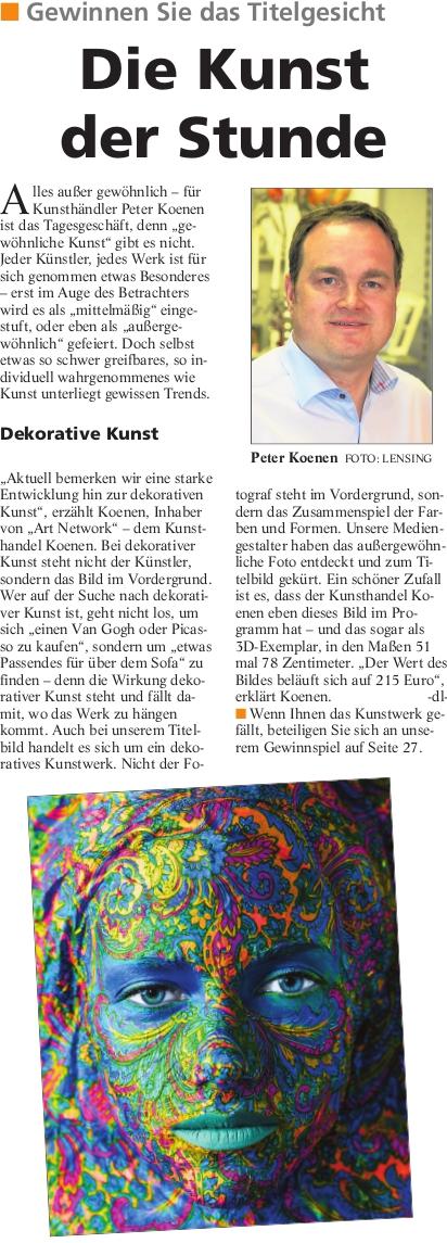SK TS2014 - Trendsetter 2014 - Presseartikel Kunsthandel Koenen ART NETWORK