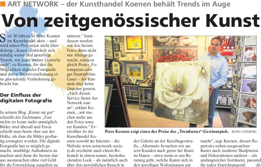 TS 3 2014 Kunsthandel Koenen - Trendsetter 2014 - Presseartikel Kunsthandel Koenen ART NETWORK