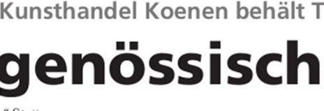 Zeitgenoessische Kunst4 464x159 - Trendsetter 2014 - Presseartikel Kunsthandel Koenen ART NETWORK