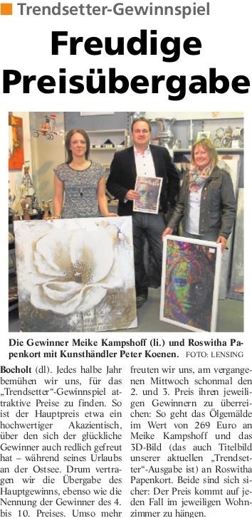 Trendsetter Gewinner 2014 - Trendsetter Bocholt 2014 - Die Gewinner 2. und 3. Preis