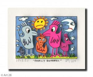 RIZZI10168 family quarrel 300x247 - James Rizzi Edition 2014  - Offiziell autorisierte Kunst Galerie