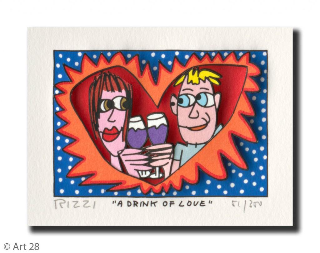 RIZZI10169 A drink of Love 1024x812 - James Rizzi Edition 2014  - Offiziell autorisierte Kunst Galerie