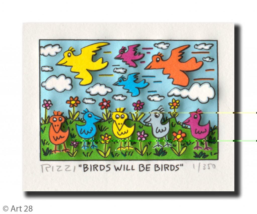 RIZZI10170 birds will be birds 1024x851 - James Rizzi Edition 2014  - Offiziell autorisierte Kunst Galerie
