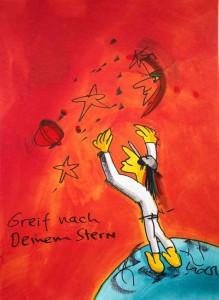2014.08.14. Udo Lindenberg Greif nach deinem Stern 1 ml neu 219x300 - Original Udo Lindenberg : Neue Bilder - Echte Likörelle und Aquarelle