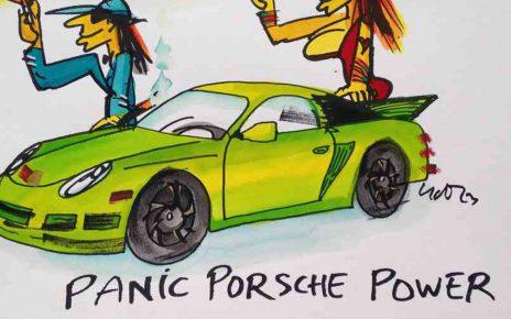 2014.08.14. Udo Lindenberg Panic Porsche Power 1 ml neu Artikel 464x290 - Original Udo Lindenberg : Neue Bilder - Echte Likörelle und Aquarelle