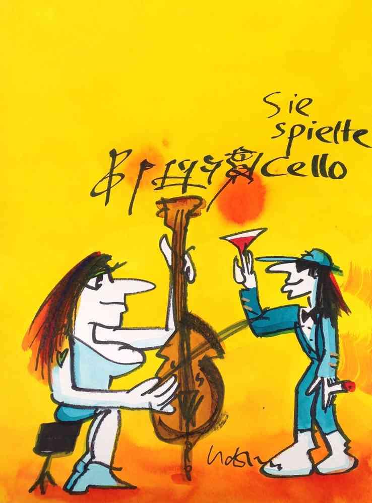 Original Udo Lindenberg Neue Bilder Echte Likörelle Und