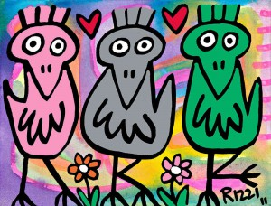 Rizzi11006   Best friends Siebdruck auf Leinwand ml 300x228 - RIZZI Ausstellung - LOVE & PEACE FÜR BOCHOLT