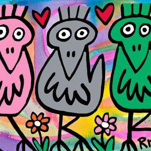 Rizzi11006   Best friends Siebdruck auf Leinwand ml 300x300 - James Rizzi - Vernissage am 27. & 28.09.2014 in Bocholt