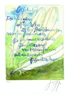 Wildgaense 220x300 - Günter Grass - Maler, Bildhauer und Zeichner