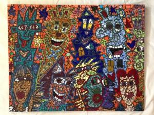 2001 Rizzi Mosaik You got to have friends 300x225 - James Rizzi - Dauerausstellung mit über 100 Werken