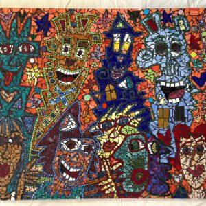 2001 Rizzi Mosaik You got to have friends 300x300 - Rizzi Ausstellung 2016 - Aktionstage im Kunsthandel Koenen