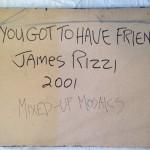 2001 Rizzi Mosaik You got to have friends   Rueckseite 150x150 - James Rizzi - Dauerausstellung mit über 100 Werken