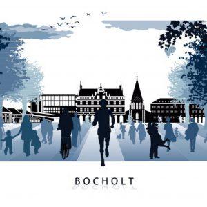Bocholt Postkarte2048 300x300 - Stadtplan Bocholt 2015 - kostenlos im Kunsthandel Koenen
