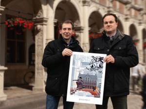 Jens Henning und Peter Koenen 300x225 - Stadtplan Bocholt 2015 - kostenlos im Kunsthandel Koenen