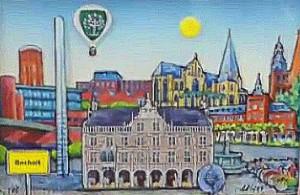 Boholt 3D 300x195 - Ratsbesuch in Bocholt (BE) - Bürgermeister überreicht 3 D Bild von Bocholt