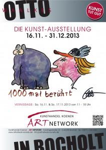 Ausstellung. Otto Waalkes Poster 211x300 - Otto Waalkes und seine Ottifanten - heitere Bilder