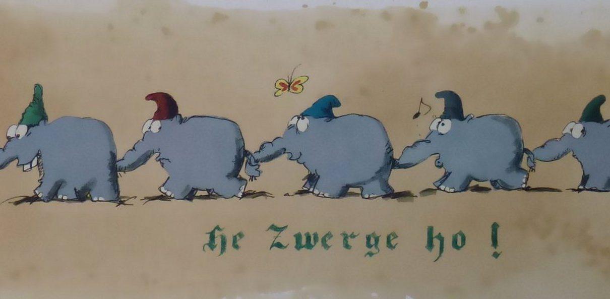 Marching Dwarfs 1210x593 - Otto Waalkes und seine Ottifanten - heitere Bilder