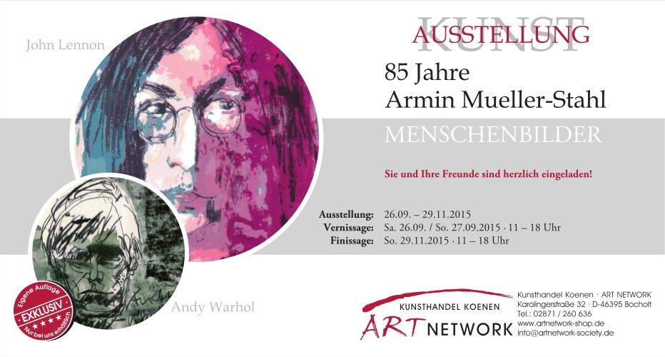 AMS Verni 1 - Kunstausstellung - 85 Jahre Armin Mueller-Stahl - Menschenbilder