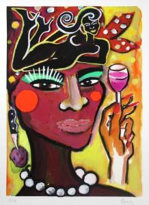 Elvira Bach Africa mon amour 218x300 - Neu in unserer Galerie - Elvira Bach - 3 D Konstruktionen