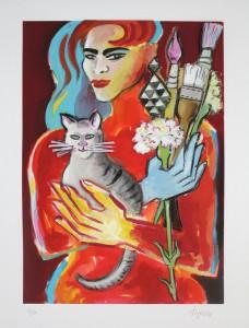 Elvira Bach Alles was mir ist 228x300 - Neu in unserer Galerie - Elvira Bach - 3 D Konstruktionen