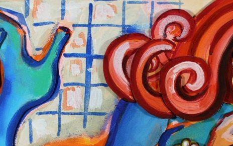 Elvira Bach   Azurblaue Artikelbild 464x290 - Neu in unserer Galerie - Elvira Bach - 3 D Konstruktionen