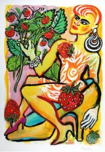 Elvira Bach   Im Erdbeerhain 1 3 208x300 - Neu in unserer Galerie - Elvira Bach - 3 D Konstruktionen