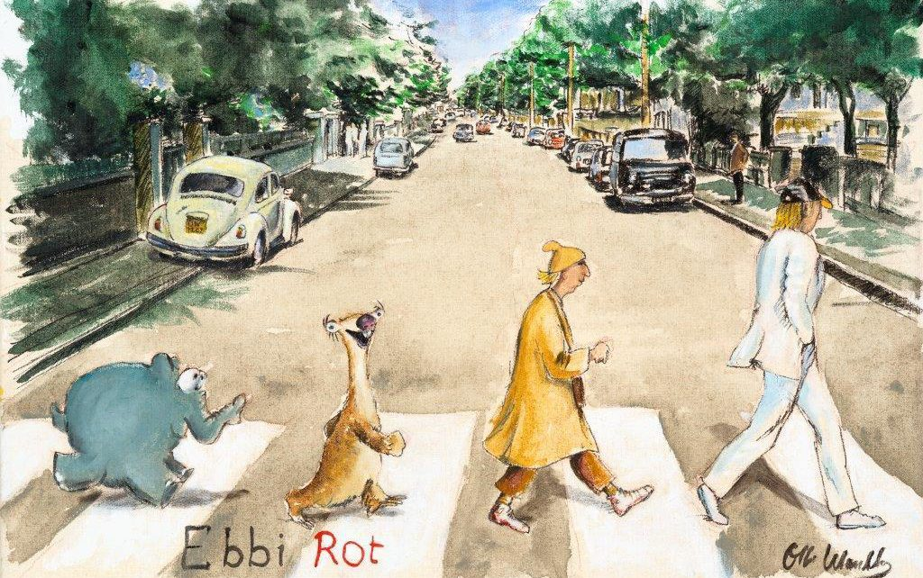 Otto Waalkes   Ebbi Rot Abbey Road 1024x642 - Kunst tut gut TV - Otto Teil 2