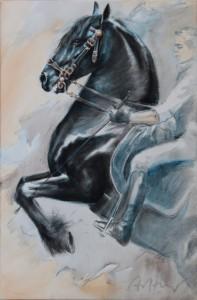 T. Aeffner - Pferd mit Reiter