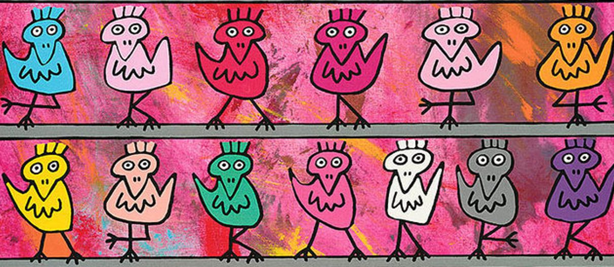 Rizzi Birds 2 1210x527 - James Rizzi Birds - Lustige Vögel