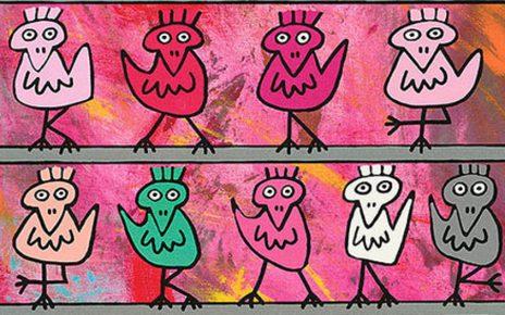 Rizzi Birds 2 464x290 - James Rizzi Birds - Lustige Vögel