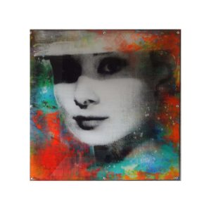 Paul Thierry Audrey Hepburn  Unikat 100x100 300x300 - Paul Thierry - Pop Art Bilder