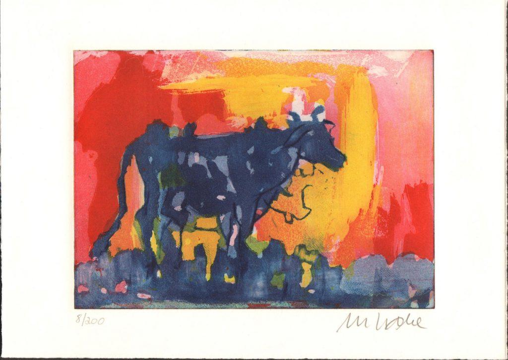 Armin Mueller Stahl   Die Blaue Kuh im Abendlicht signiert und nummeriert 1024x726 - Die blaue Kuh - Armin Mueller-Stahl