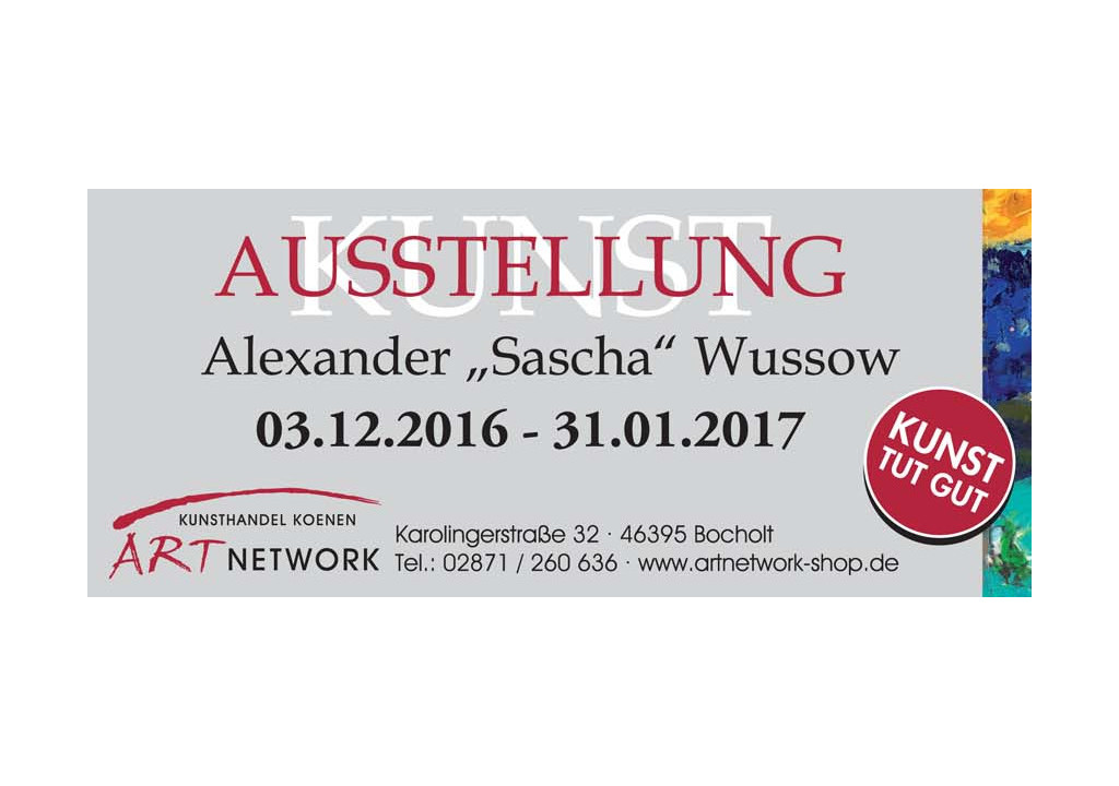 Sascha Wussow – LIFE IS A JOURNEY – Kunstausstellung