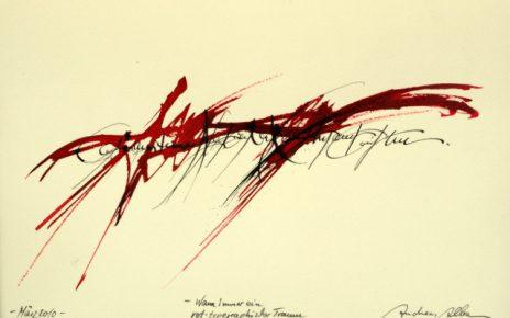 Andreas Alba Kalligrafie 1 464x290 - Andreas Alba - Abstrakte Harmonie - Ausstellung